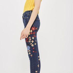 NWT // Topshop Jamie Floral Skinny Jeans